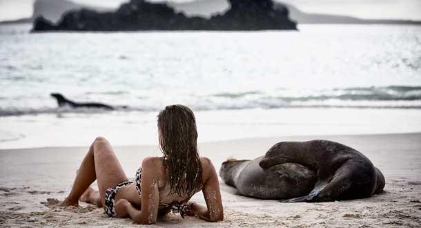 cual es la razon para que muchas personas realizan turismo en galapagos